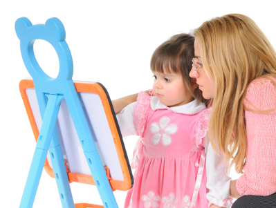 Sunshine Academy Toddler Painting With Teacher